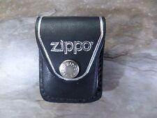 ZIPPO Genuine Leather Briquet Pouch - Black (Noir) - NEUF - 010471