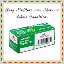 Piles bouton 371 Sony muRata SR920SW 1.55V sans Mercure Réf: 4937110