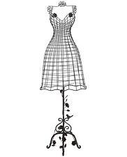 style ancien mannequin buste de couture de chambre de vitrine sur pied fer mètal