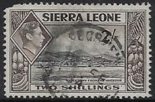 Sierre Leone 1938-1944 George VI Defins, Scott #182 Used - dw898.22