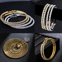 Big Rhinestone Crystal Hoop Earrings Ear Stud Dangle Jewelry Drop Earrings