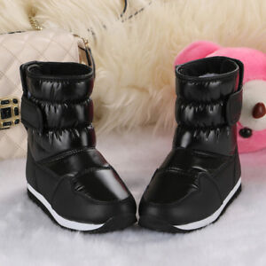 Winter Waterproof kids boys girls snow boots fleece lined Warm Non slip shoes