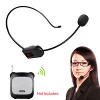 30m Wireless FM Microphone Remote Transimitter Head-Mounted Headset