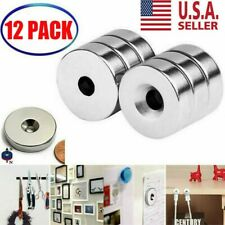 34 X 14 Inch Neodymium Rare Earth Countersunk Ring Magnets N52 12 Pack Usa