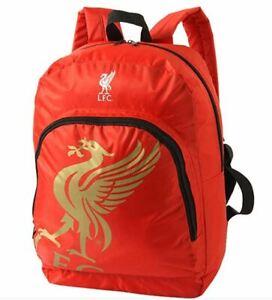 Liverpool FC Backpack Football Soccer Team Bag Red - Sport School Travel Bag