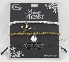 New Disney Beauty & The Beast Chip & Lumiere Bonjour Arm Party Bracelet Set
