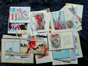 Collection Of 30 1930s Greetings Cards. Kit Forbes, Pop-Up, Handpainted.