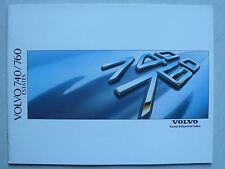 Prospekt Volvo 740 / 760 Estates (GL - Turbo), 2.1988, 38 Seiten englisch für UK