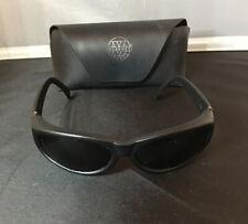 Vuarnet Pouilloux Skilynx-Acier 021CE Sunglasses Black Frames Green lens w/case