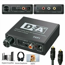 Optical Coax Coaxial Toslink Digital to Analog 3.5mm Audio Converter Adapter RCA
