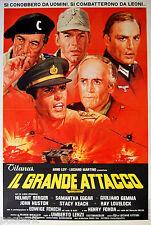 manifesto 2F film IL GRANDE ATTACCO Umberto Lenzi Giuliano Gemma 1978