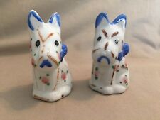 vintage hand painted Terrier dog salt and pepper shakers made in Japan