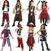 Caribbean Book Week Pirate Boys Fancy Dress Costume Girls Buccaneer Kids Outfit
