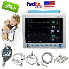 US Veterinary Patient Monitor Vital Signs VET Monitor ECG NIBP SPO2 RESP TEMP PR