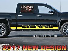 Fits GMC SIERRA 1500 2500HD 3500HD SLT Denali 2010 to 2017 Rocker Panel Stripes