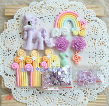 diy phone case deco den kit purple litter pony crystal pearl rhinestone flatback