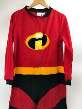 INCREDIBLES 2 Adult FLEECE Union Suit PAJAMA Costume LOUNGE Jumper Women M 8/10