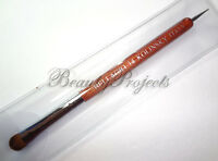 Nail Art Kolinsky French Brush #14 Red Wood with Dotting Pen High Quality