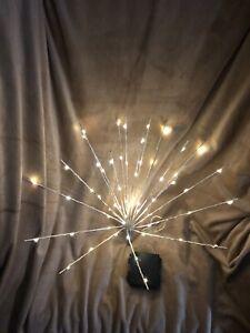"""Light Up Starburst Picks By Kringle Express"" Silver Led Poseable Lights(3 Pack)"