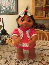 "GIANT LIVVY w HANG TAG -  17"" Dam Troll Doll -  NEW IN WRAPPER - Flaw In Dress"