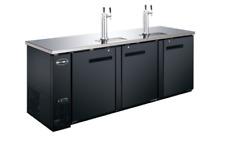 "New 90"" 3 Door Direct Draw Draft Beer Cooler Saba Sdd-27-90 #6060 Nsf Keg Tap"