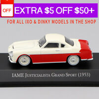 1/43 IXO IAME JUSTICIALISTA GRAND SPORT (1953) Red Die Cast Car Model Gift