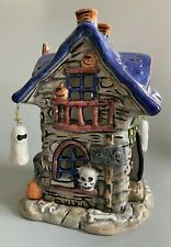 Russ Berrie Halloween Haunted House Ceramic Hand Painted Votive Candle Holder