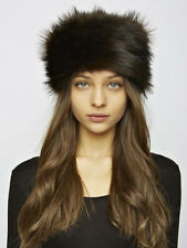 Unreal Fur Natasha Brown Chocolate Ivory Russian Cossack Hat Ski Winter New