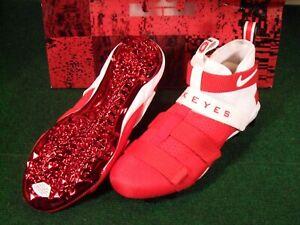 Ohio State Buckeyes OSU Team Issue Nike Lebron Soldier 11 TD Football Cleats 11
