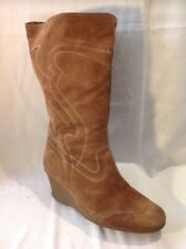 Essence Brown Mid Calf Suede Boots Size 9