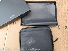 Hugo Boss Black Laptop Tablet Apple Ipad 3 4 5 Funda De Cuero De Viaje Funda Bolsa