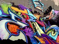 ART PRINT POSTER PHOTO GRAFFITI MURAL STREET ART ANGRY DUDE NOFL0141