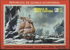 Äquatorial-Guinea Block248 (kompl.Ausg.) mit Wellenstempel gestempelt 1976 Schif