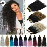 US Water Wave Braids Twist Crochet Braiding Hair Extensions Ombre as Human Curly