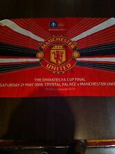Limited Edition Manchester United FA Cup Final flag vs Crystal Palace 2016