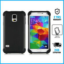 Hybrid Armor Cover Coque Etui Silicon Hoesje Case Black For Samsung Galaxy S4