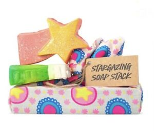Lush Cosmetics Stargazing Soap Stack - Baked Alaska, Shooting Stars NEW