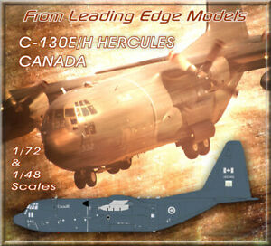 1/72 C-130 E/H Canada Grey Scheme /Afghanistan model decal set by Leading Edge