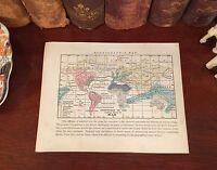 Original 1856 Antique Pre-Civil War Map ETHNOGRAPHIC MAP Distribution of Races