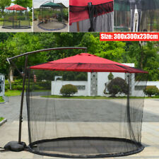 Outdoor Garden Parasol Mosquito Net Patio Courtyard Umbrella Sunshade Net Cover