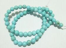 1filo/63pz  perline pietre in turchese naturale 6 mm colore turchese chiaro