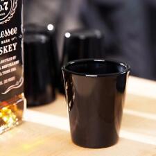 Libbey Glass 6 Black 1.5oz Whiskey Shot Glasses 5120B