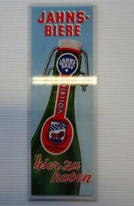 Jahns Biere altes Reklameschild aus Ludwigstadt / Bayern