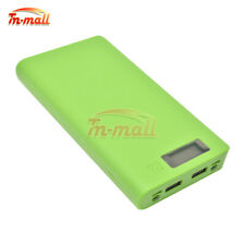 8x 18650 Battery Power Bank DIY Box Green Shell Case USB Charger for Cell Phone