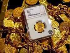 SPAIN ATOCHA DATE 1622 2 ESCUDOS NGC 61 GOLD TREASURE DOUBLOON SHIPWRECK COIN