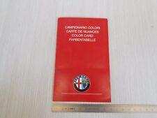 RARA TABELLA COLORI ORIGINALE 1988 ALFA ROMEO 75 164 33 ETC