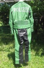 German motorcycle Police Suit - Polizei - leather  jacket +pants sz 38 Med