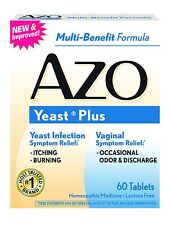 AZO Natural Yeast Plus Prevention Tablets 60 CT (Pack Of 3 Boxes)
