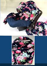 WHOLE CABOODLE CarSeat Canopy 9pc Set STRETCH Baby Car Seat Cover ...NEW