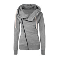 Women Long Sleeve Zip Up Hoodie Sweatshirt Jacket Coat Hoody Jumper Pullover Top